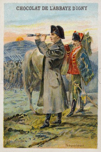 Napoleon Bonaparte (1769-1821), French general and Emperor. French educational card, late 19th/early 20th century.