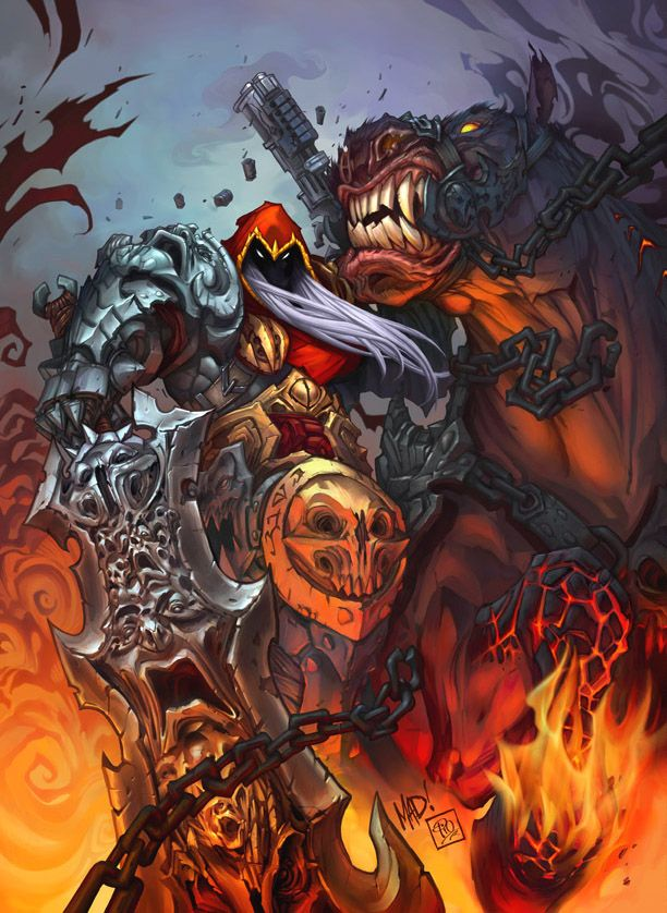 Darksiders. the ineffable work of Joe Madureira..possibly the greatest set of artworks associated with any game!!