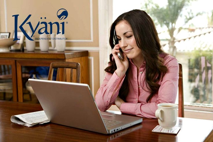 Kyani Distributors have the freedom to work from home and work their own hours! #kyani #distributor #perks