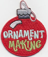 Girl Boy Cub XMAS ORNAMENT MAKING BULB Fun Patches Crests Badges SCOUTS GUIDE