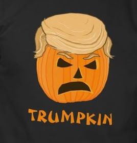 Celebrate Halloween 2015 with this 2016 presidential themed shirt that features Donald trump as a jack o'lantern and reads Trumpkin. Or choo...
