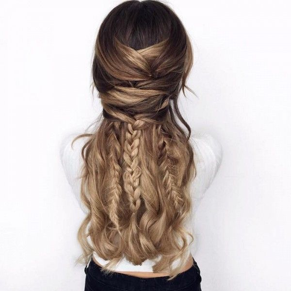 Loving these braids and curls