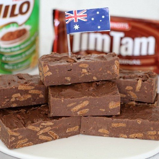 It doesn't get any more Australian than this Microwave Tim Tam & Milo Fudge. Two iconic Australian ingredients in one super easy fudge!