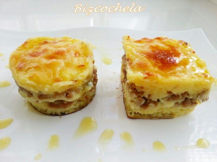 PASTEL DE CARNE Y PURÉ http://bizcochela.blogspot.com.es/2015/02/pastel-de-carne-y-pure.html