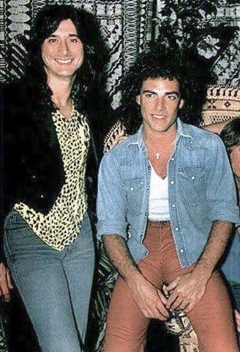 Neal Schon and his lovely girlfriend. Good lawd, Perry! --  Steve Perry & Neal Schon
