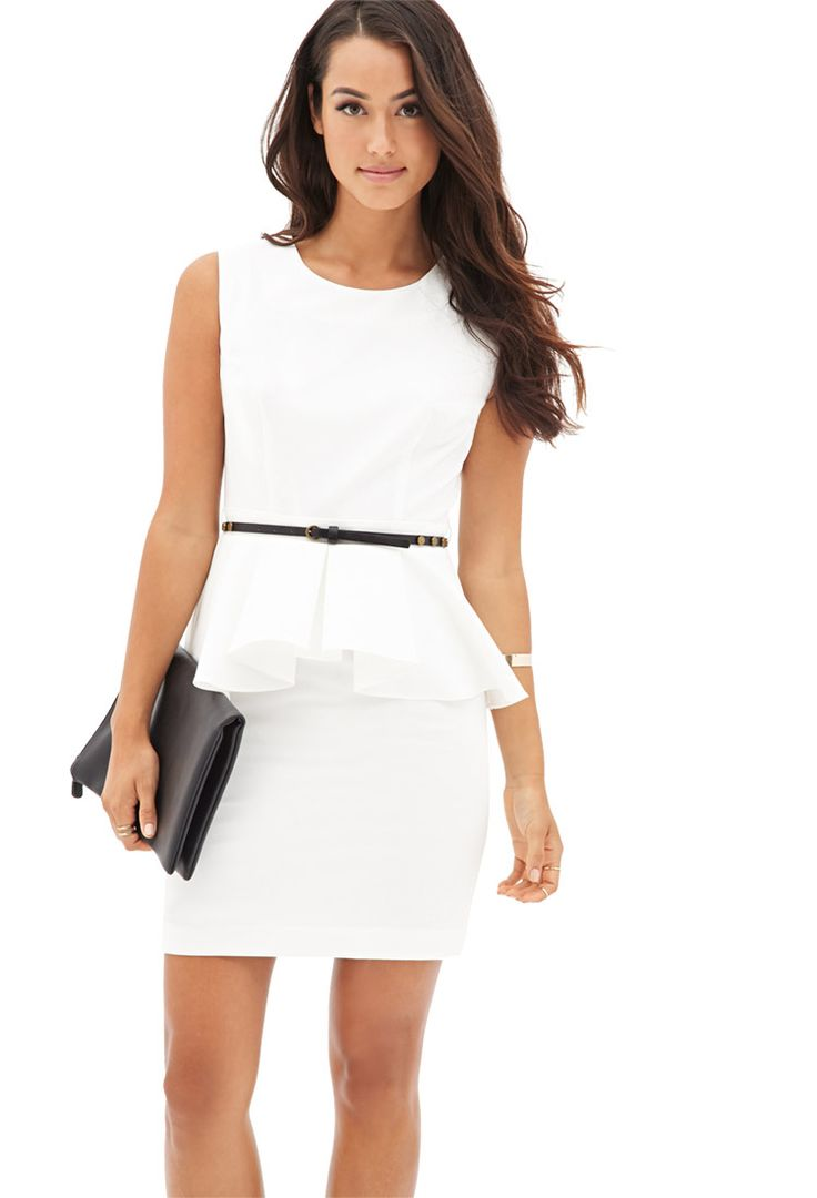 Chic Side Peplum Dress #F21Contemporary really hot, found it on http://style.startdiscussion.com - http://AmericasMall.com/categories/juniors-teens.html