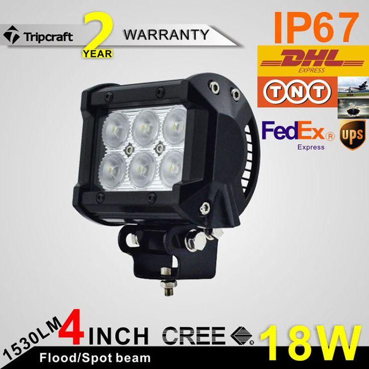 4INCH 18W LED LIGHT BAR Offroad Truck 4x4 SUV Hunt Boat Car ATV Spot Flood 12V 24V Head Bar Lamp