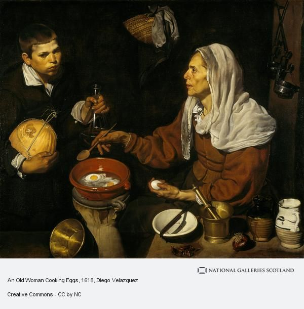 Diego Velazquez - An Old Woman Frying Eggs (1618)