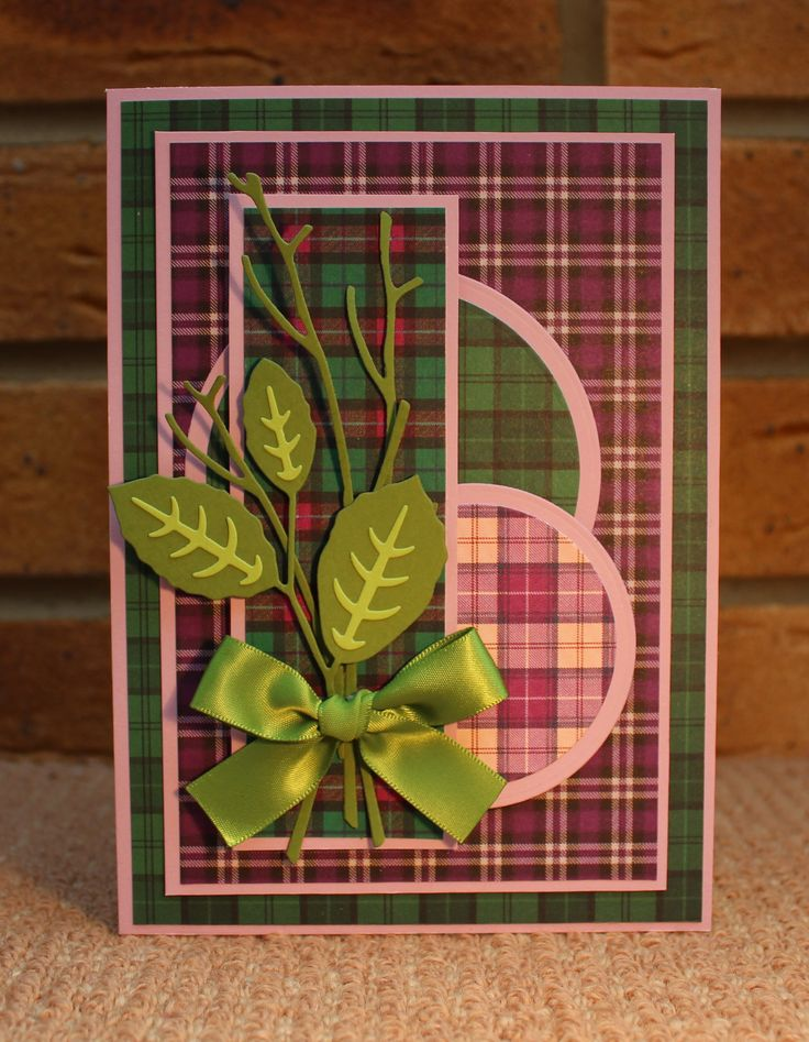 Card using Traditional Tartans, by Sue Smith for Craftwork Cards.
