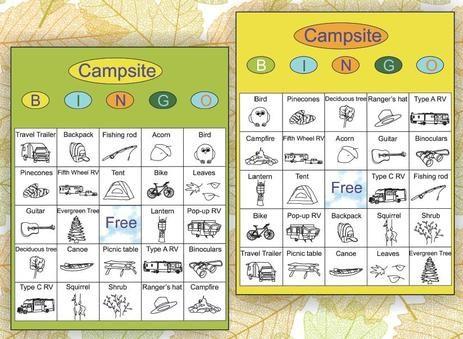Die Besten 25 Camping Bingo Ideen Auf Pinterest