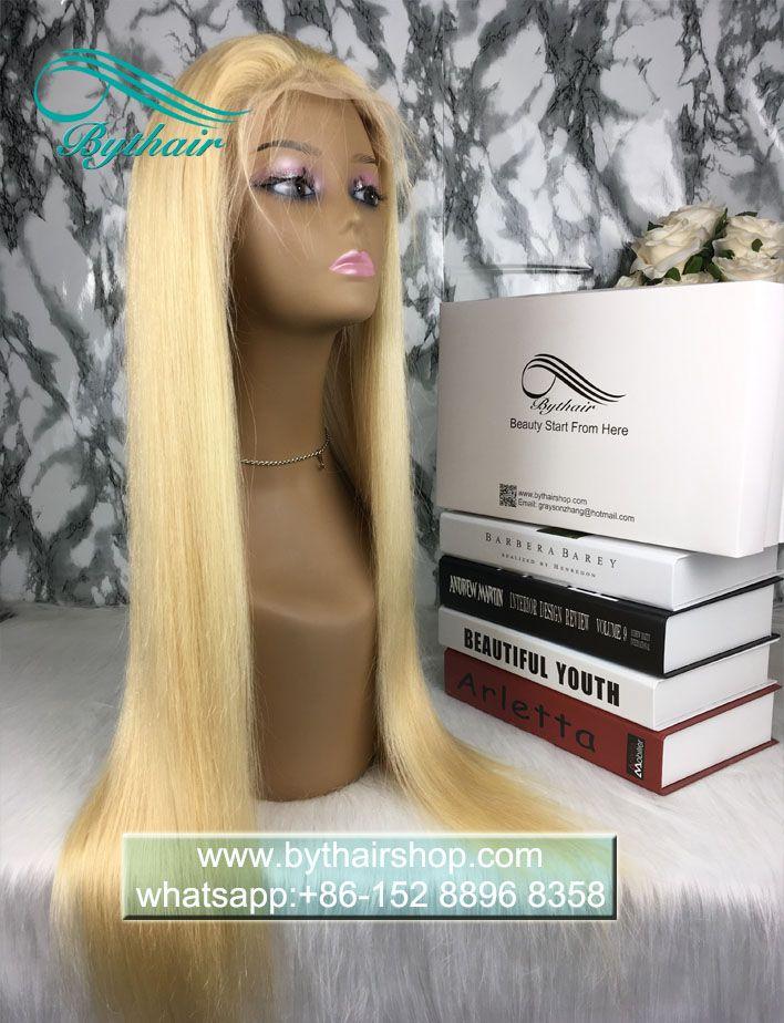 061ba466544 Bythairshop 613 Blonde Color Full Lace Wigs Vrigin Brazilian Hair ...