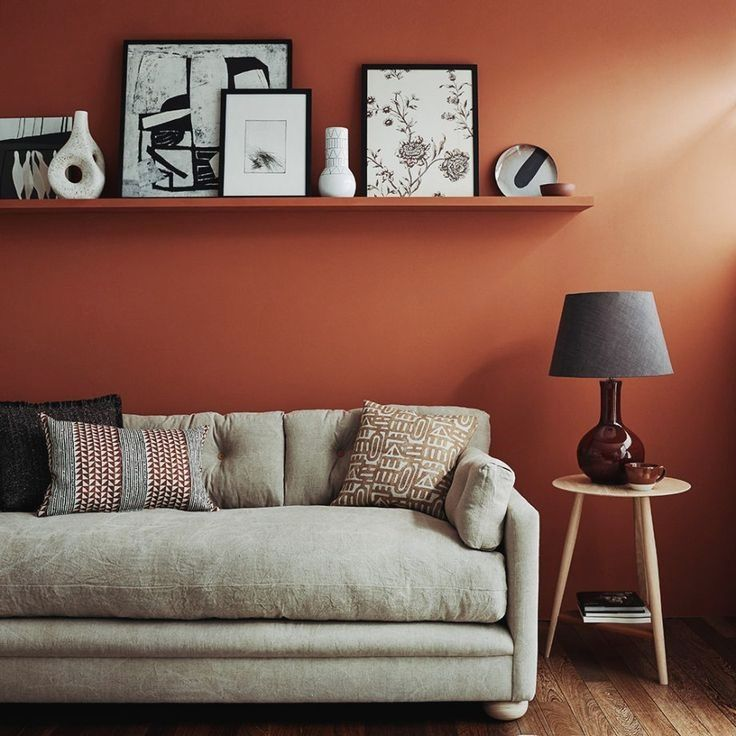 Living Room With Rust Coloured Walls Room Wall Colors Living Room Pictures Living Room Red