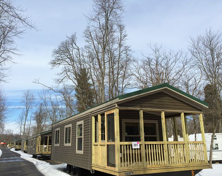 New Holiday Cottages Awaiting Placement At Lake Rudolph Campground RV Resort