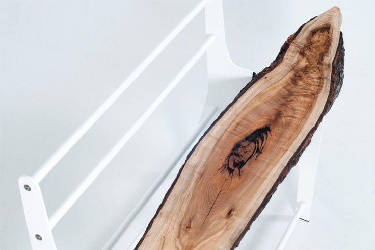 Cradle design studio crée un banc avec une chute d'arbre