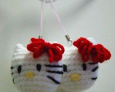 Portachiavi Hello Kitty a uncinetto – Schema.