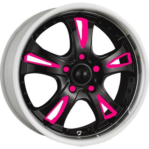 black rims with pink | Evilina's rims have been special ordered!!