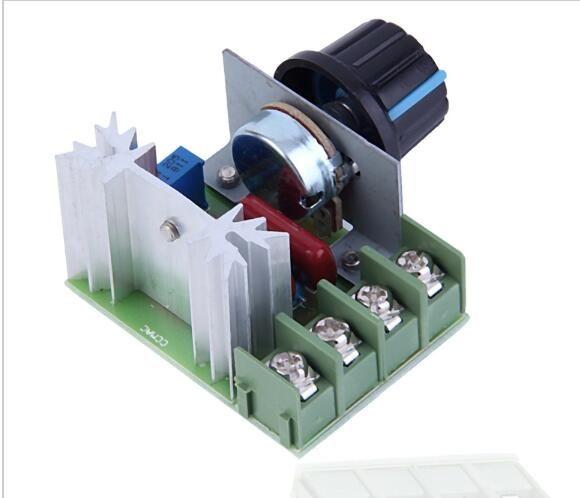 Gratis Pengiriman AC 220 V 2000 W SCR Voltage Regulator Dimming Dimmer Kecepatan Pengendali Thermostat