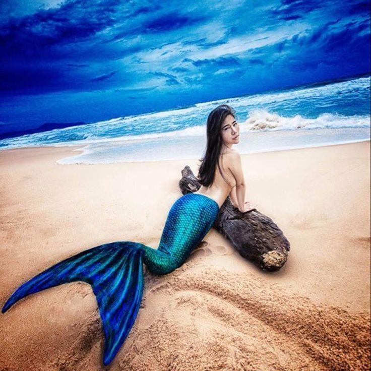 Woman Adults Swimmable Mermaid Tail Swimwear Swim Bikini Costume With Monofin #Unbranded #BikiniSet