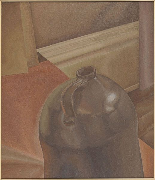 Lionel LeMoine FitzGerald, Untitlted (The Jar), 1938    During the early 30s, FitzGerald (in concert with his friend Bertram Brooker who introduced him to the Group of Seven) became intensely interested in the painting of still lifes. Untitled (The Jar) is one of his best still lifes (sensual, yet austerly controlled). - Dennis Reid