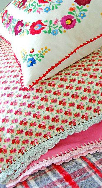 and more new pillowcases... by rose hip..., via Flickr