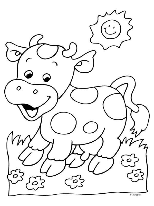 Afbeeldingsresultaat voor kleurplaat koe