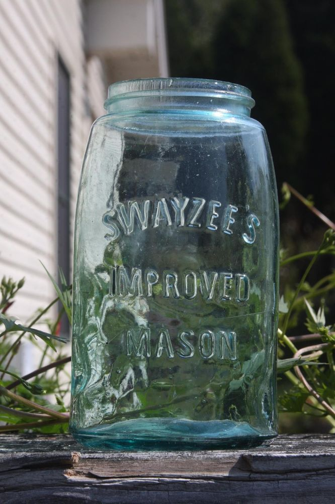 Vintage Mason Fruit Canning Quart Jar Swayzeeu0027s