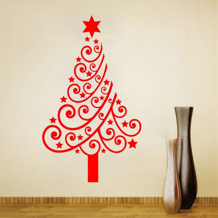 Cheap Navidad creativo MC 3 pegatinas de pared de PVC árbol de navidad decoración escaparate para la tienda de vidrio tatuajes de pared papel tapiz de carteles arte, Compro Calidad Pegatinas de pared directamente de los surtidores de China:             Serie creativo de Navidad cm-3 pegatinas de pared de PVC           Navidad             Árbol decoración esca