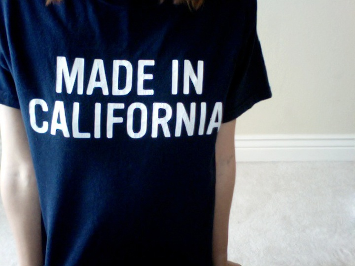 I was made in Alabama but I was born in California...