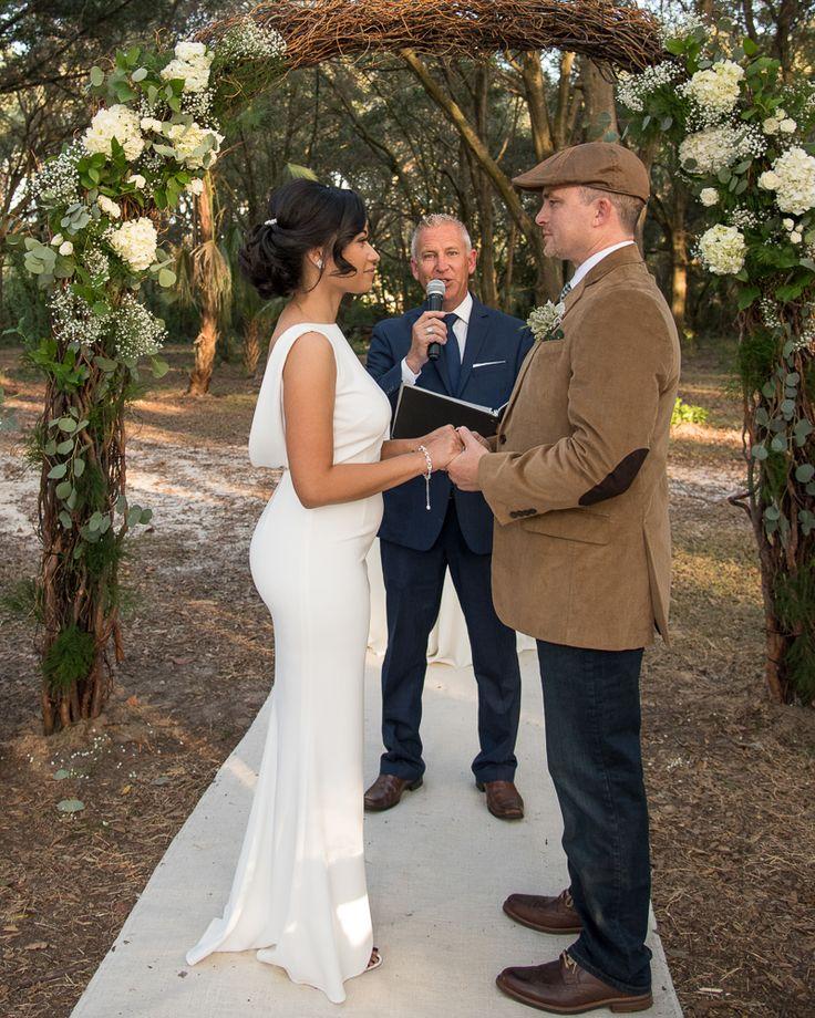 Bride And Groom Being Pronounced Husband Wife By Rev Rick Of Sensational Ceremonies At Beautiful Woods Wedding Casa Lantana Brandon FL