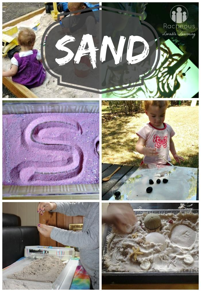 Sand | ways to play and learn with sand .  Visit pinterest.com/arktherapeutic for more #sensoryplay ideas