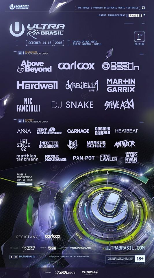 The festival will also welcome names such as Steve Aoki, Krewella, Above & Beyond, Nic Fanciulli, Markus Schulz, Infected Mushroom and many more awesome performers. Take a look at the full lineup.