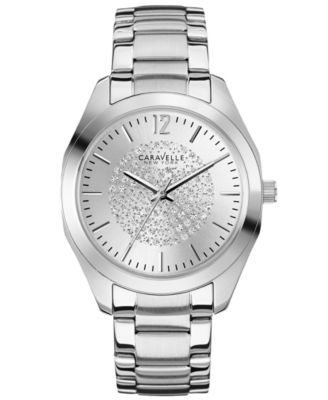 Caravelle New York by Bulova Women's Stainless Steel Bracelet Watch 36mm 43L179 | macys.com