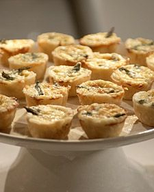 These delicious mini quiches are a wonderful party dish because they can be made in advance and then simply reheated before serving.