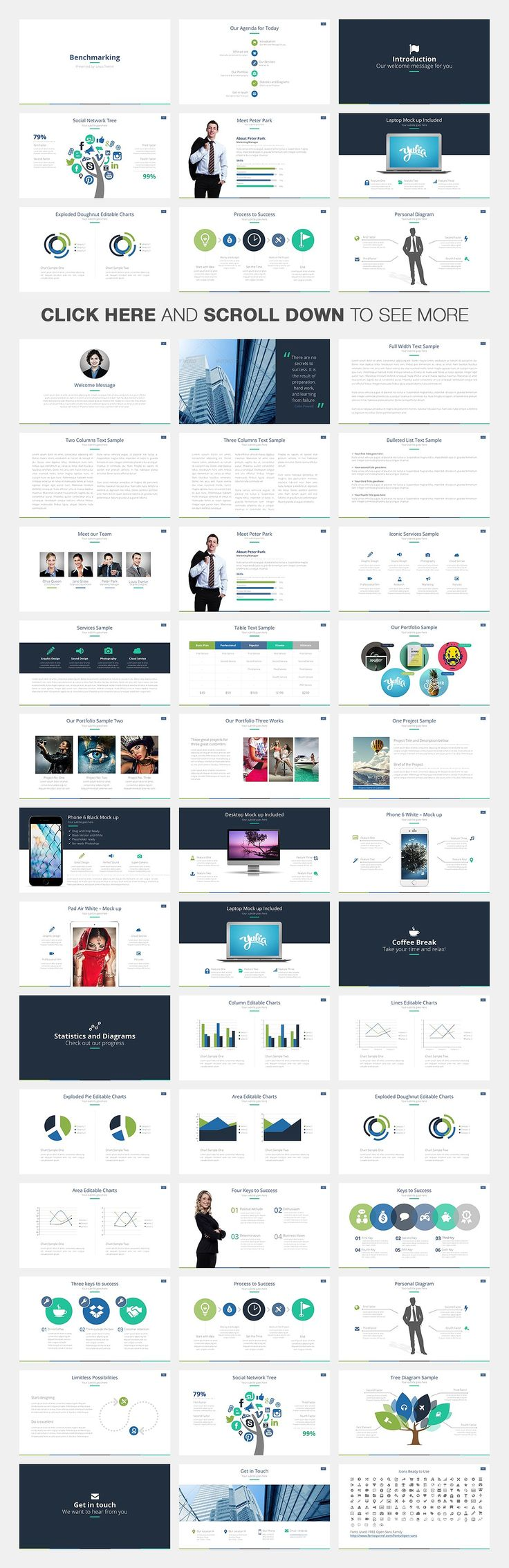 14 best cool powerpoint templates images on pinterest ppt design benchmarking keynote template by louis twelve on creative market toneelgroepblik Choice Image