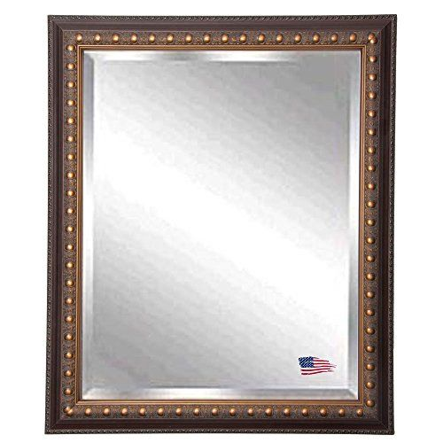 American Made Rayne Traditional Cameo Bronze Beveled Wall Mirror 275 x 335 *** You can get additional details at the image link.