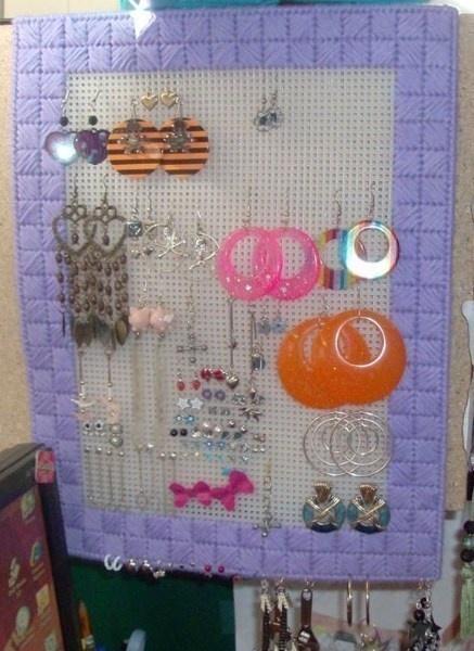 Plastic Canvas Earring Organizer