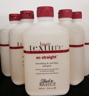 LOT OF 6 Back To Basics Texture So Straight Smoothing & Anti-Frizz Shampoo 12oz