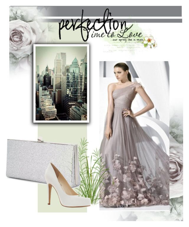 """""""1-Schulter aus Tüll traumhafte Abendkleid"""" by johnnymuller on Polyvore featuring Jimmy Choo and Jessica Simpson"""
