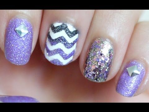 Short Nails:  Textured Chevron Nail Tutorial by elleandish