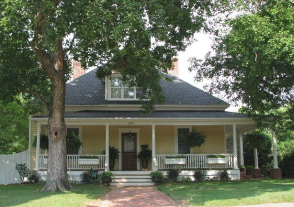 1910 Southern Cottage Home, Our home needed a lot of work when we bought it. The last shot is the realtor ad. The porch sagged the columns w...