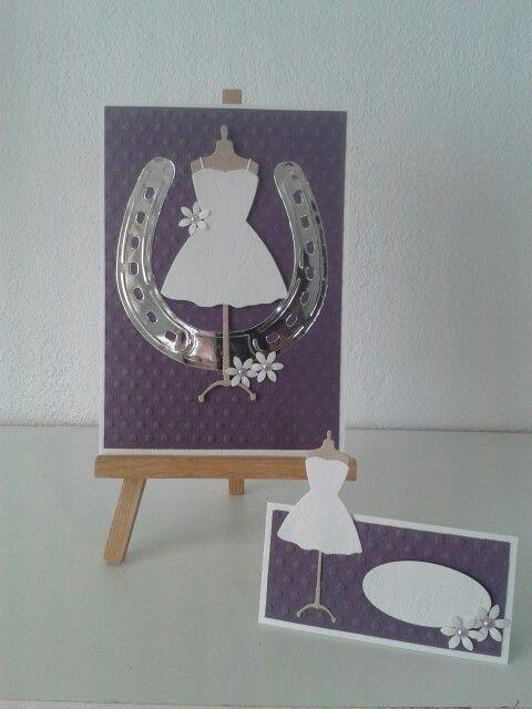 Invitation og bordkort til konfirmation