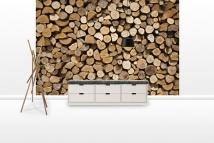 Firewood - Fototapeter - Photowall