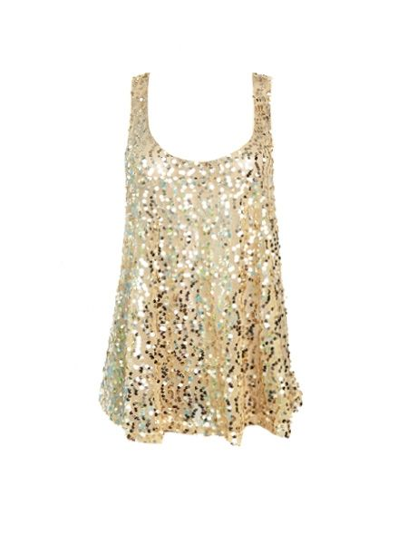 LOVE! LOVE! LOVE! gold glitter tank top from Stitch Fix... perfect for bachelorette parties, vacations, parties, etc.