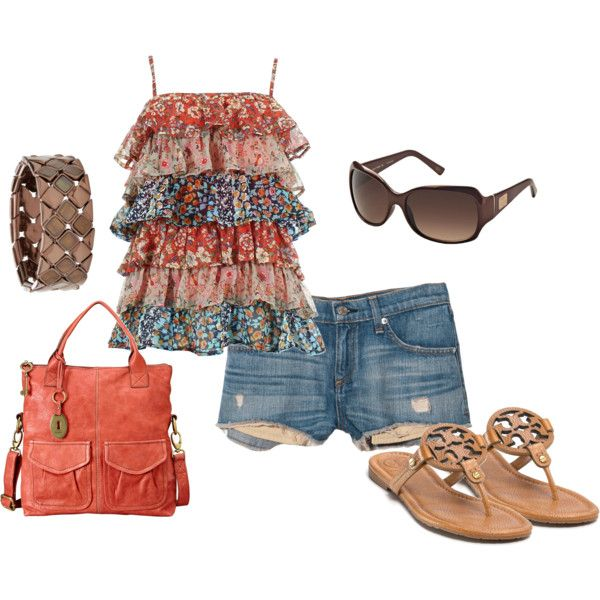 Tier Tank and Tory Burch Sandals :)
