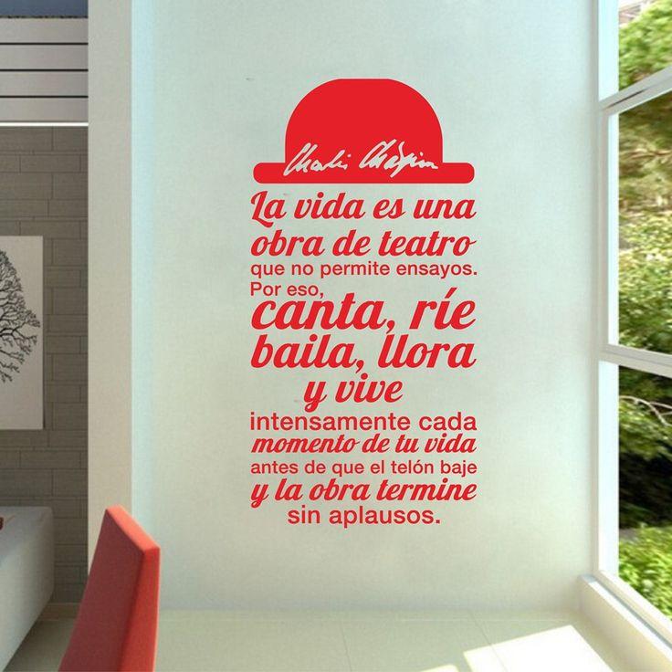 Spanish Quote La vida es una obra de teatro Vinyl Wall Sticker
