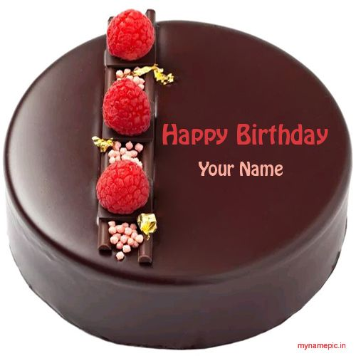 Write your name on chocolate birthday cake profile pic ...