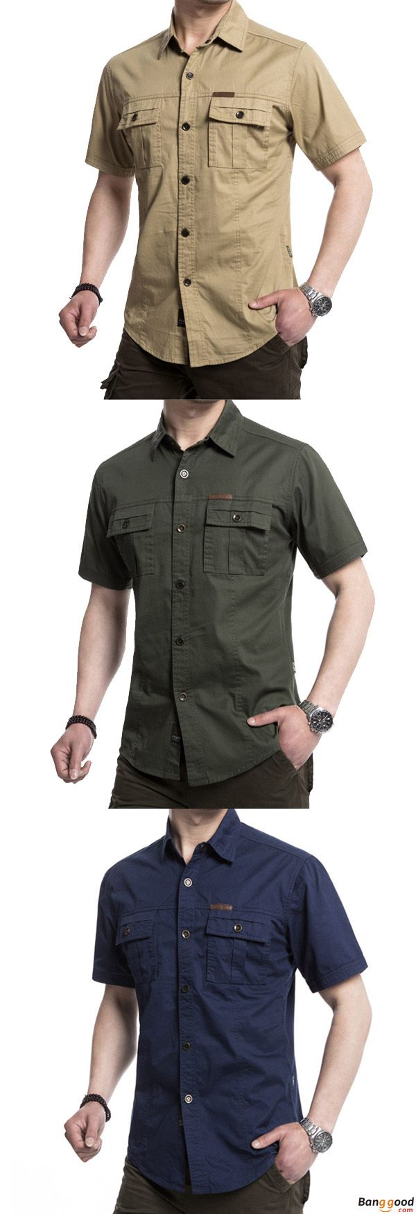 US$26.34 + Free Shipping. Outdoor Shirt, Military Shirt, Double Pockets Solid Color Shirt, Casual Shirt, Short Sleeve Shirt, Men Cotton Shirt. US Size: S - 3XL. Color: Navy Blue, Army Green, Khaki. >>> To View Further, Visit Now.