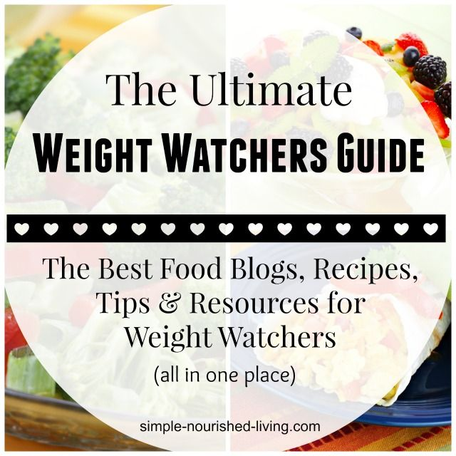 The Ultimate Weight Watchers Recipe Blog Resource Guide - The Best WW Food Blogs, Recipe Roundups, Tips, Resources and more for successful weight loss with Weight Watchers. http://simple-nourished-living.com/2015/03/the-ultimate-guide-to-weight-watchers-recipes-blogs-and-resources/