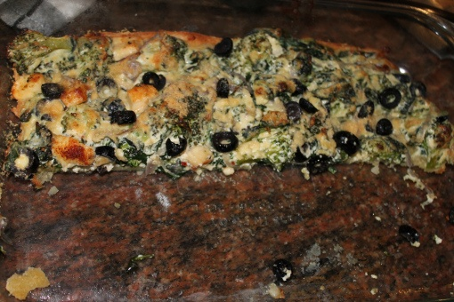 Parmesan Spinach, Broccoli and Olive Pie