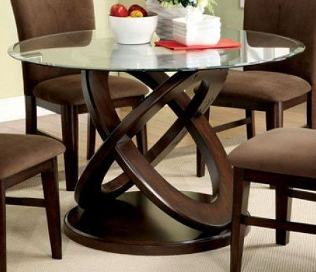 Modern Style CrossOval Dining Table Base w/ Glass Top in